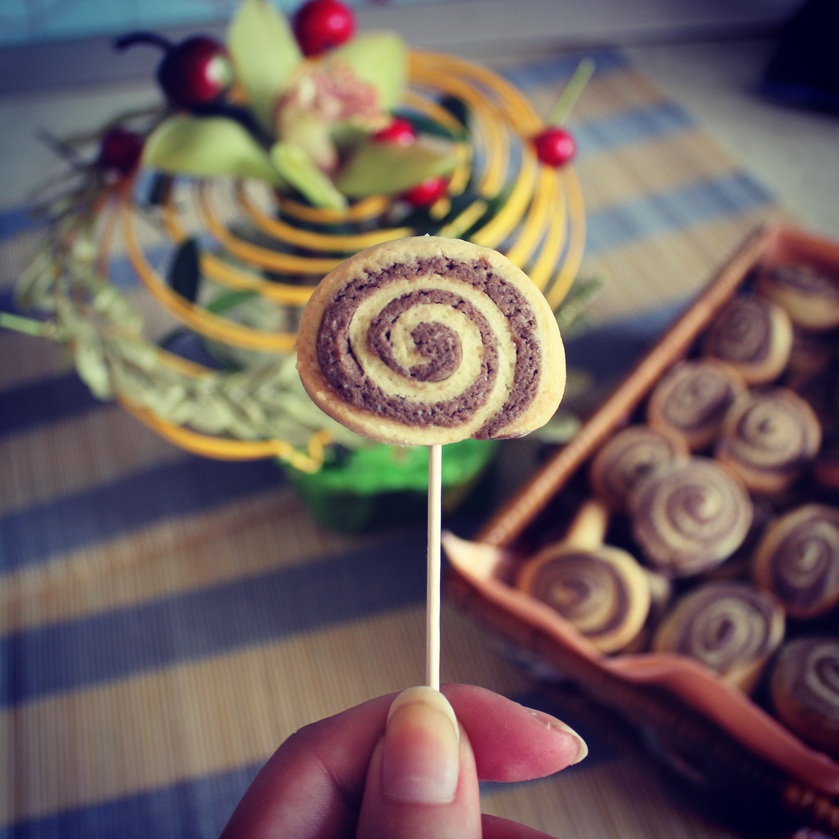 Citrininiai-kakaviniai sausainiai