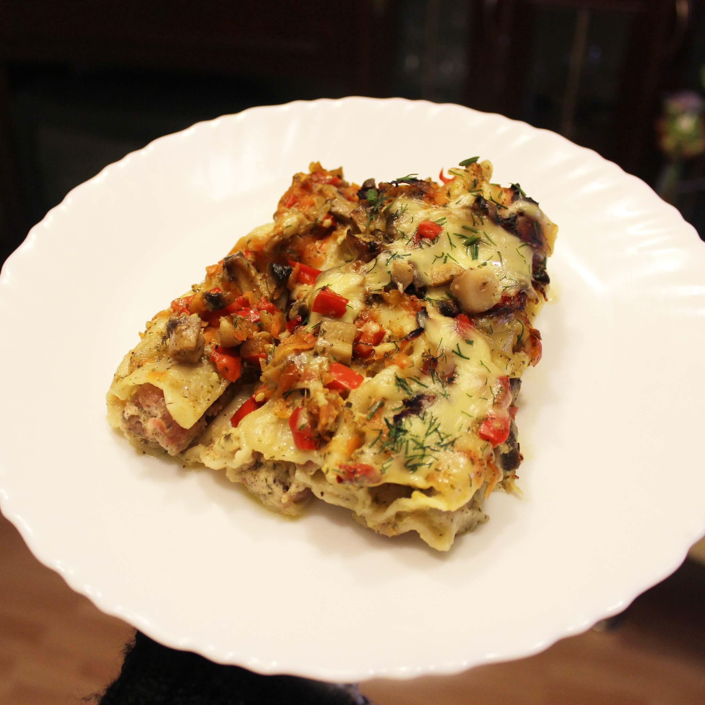 Cannelloni makaronų apkepas